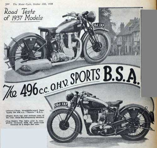BSA Motorcycle Ad