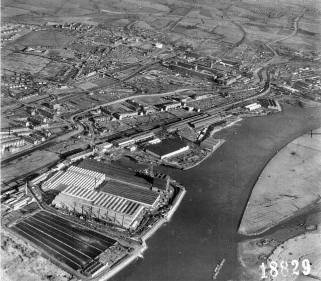 View of Beardmore Shipbuilding 1941