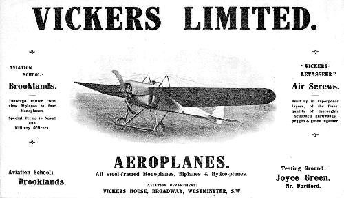 Early Vickers ad