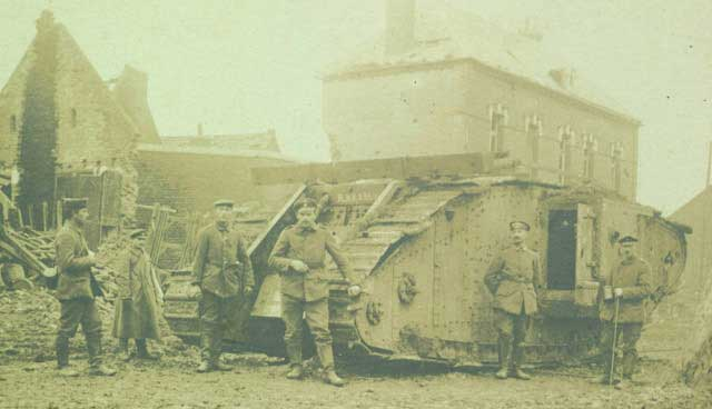 British tank captured near villiage of Fontaine