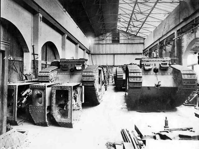 Tanks in the factory
