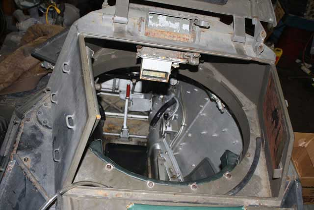 View from rear of turret