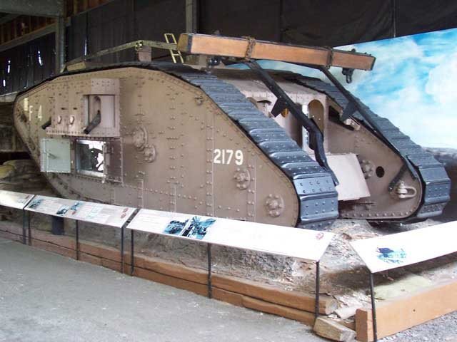 Mk IV tank built by William Foster and Company