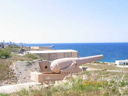 100 ton gun at Fort Rinella