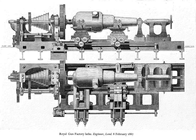 pic of Royal Gun factory lathe