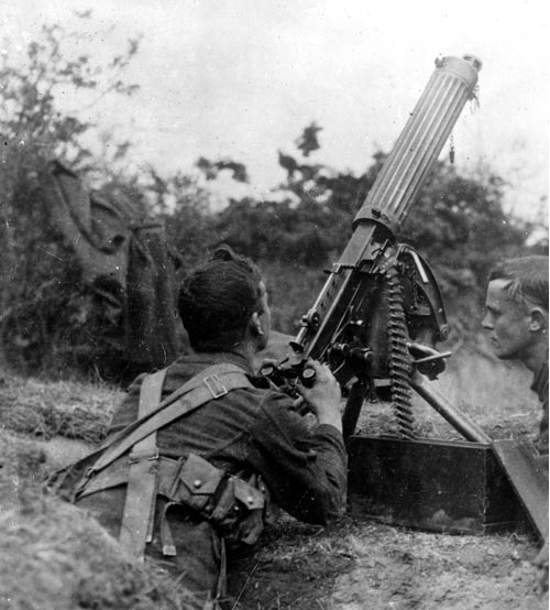 British anti-aircraft gunner