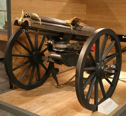 Gatling Gun in British Artillery Museum