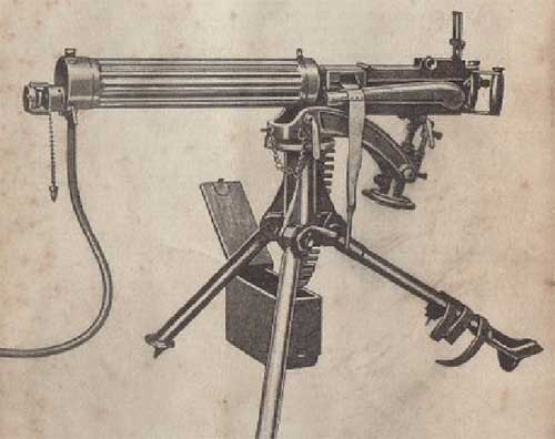old picture of Vickers Gun