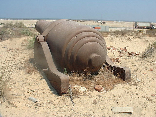 Abandoned cannon in Egypt