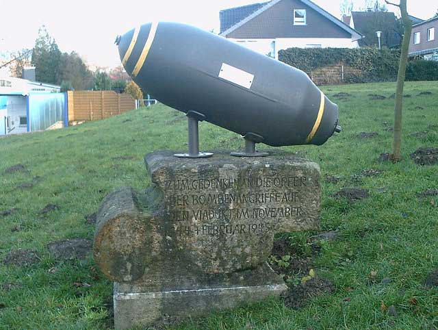 Bomb in German churchyard