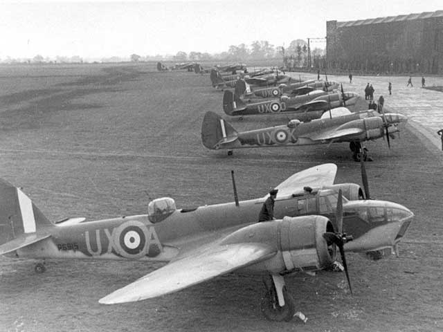 picture of squadron of Blenheims