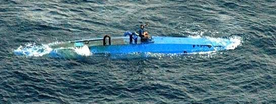 Navy captures semi-submersible