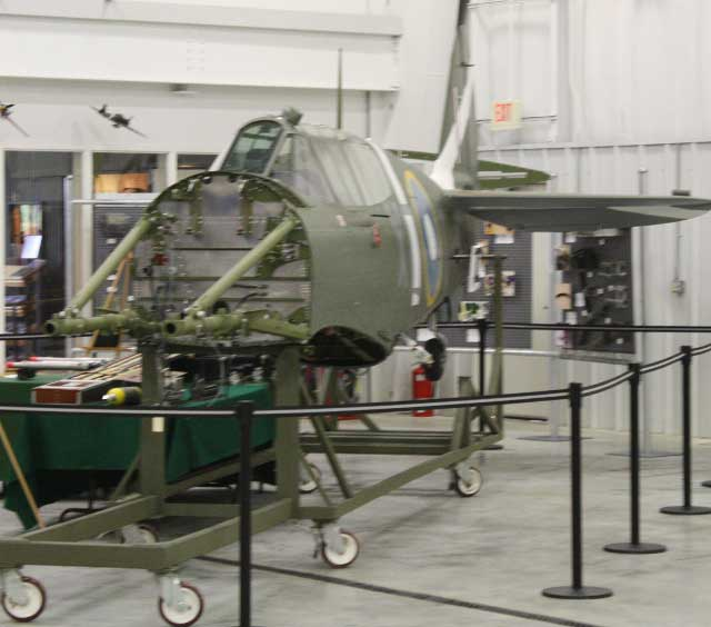 P-40 back in for repair