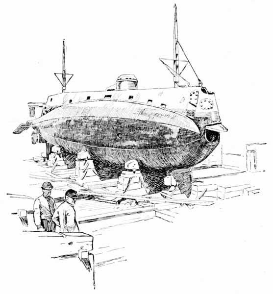 picture of Holland sub in drydock