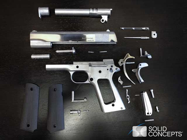 picture of printed gun components