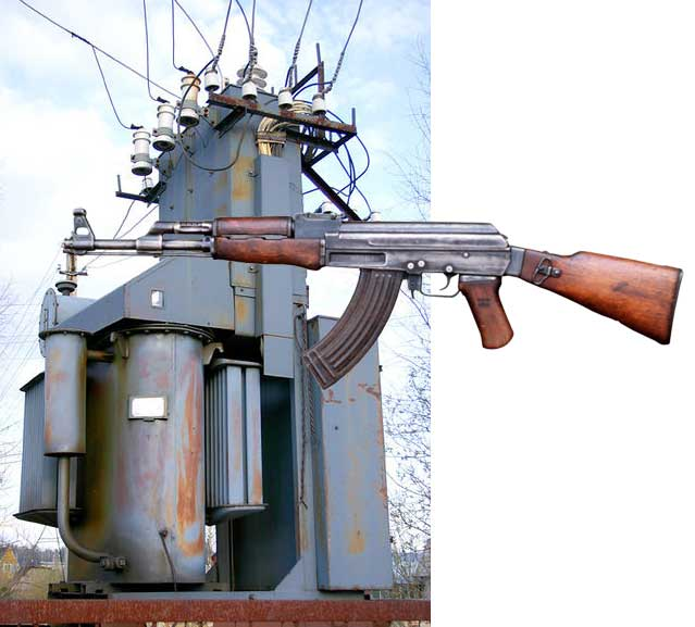 picture of substation and AK-47