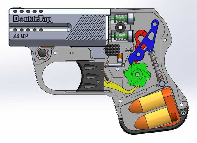 Cutaway of Tactical Pistol