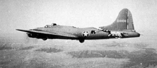 picture of B-17 battle casualty