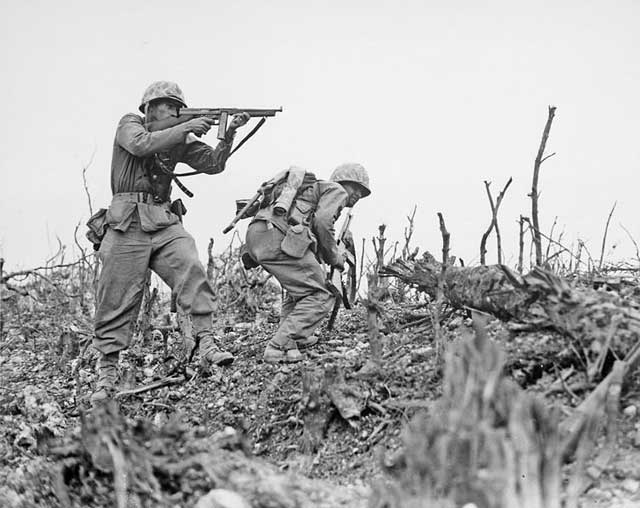 picture of US Marines on Okinawa