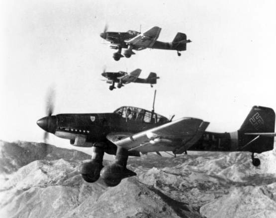 A flight of Stukas