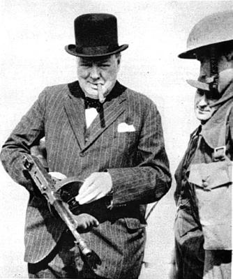 Winston Churchill and the Tommy Gun