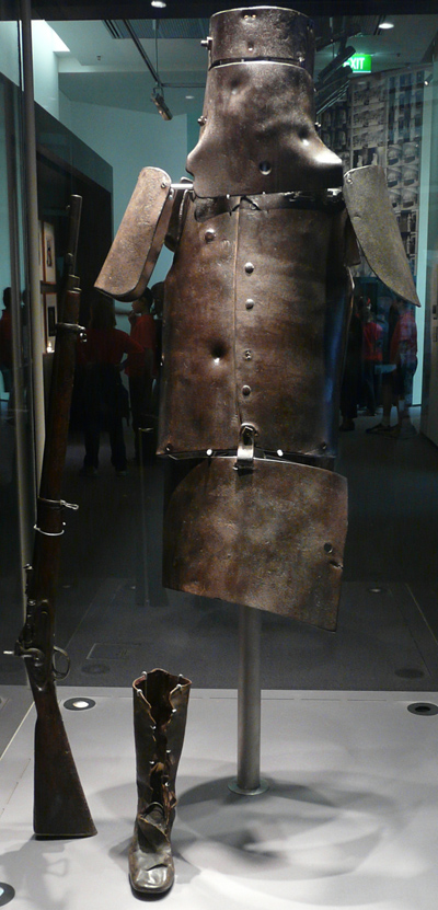 Ned Kelly's armor in Library