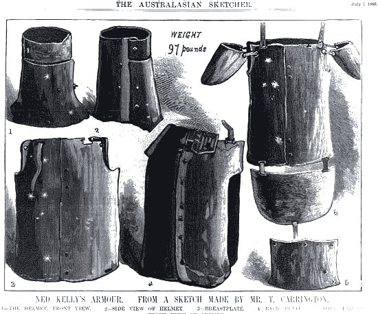 Picture of Ned Kelly's armor