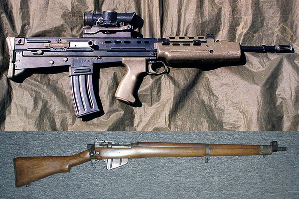 The SA80 and the Lee Enfield