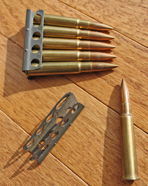 Ammunition on charger