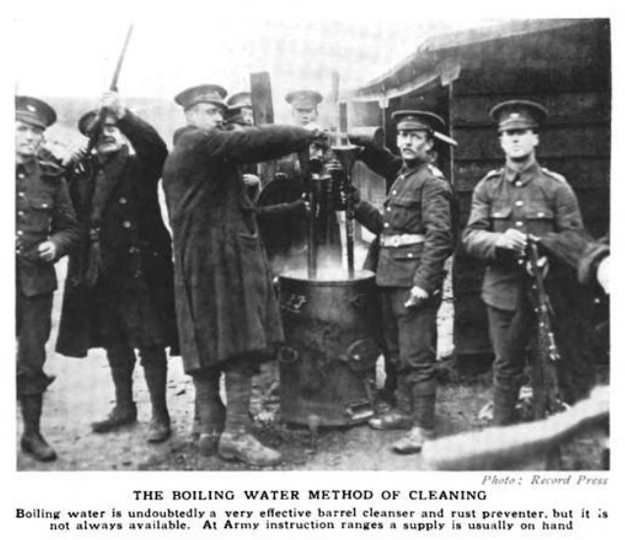 WW1 cleaning, the boiling water method