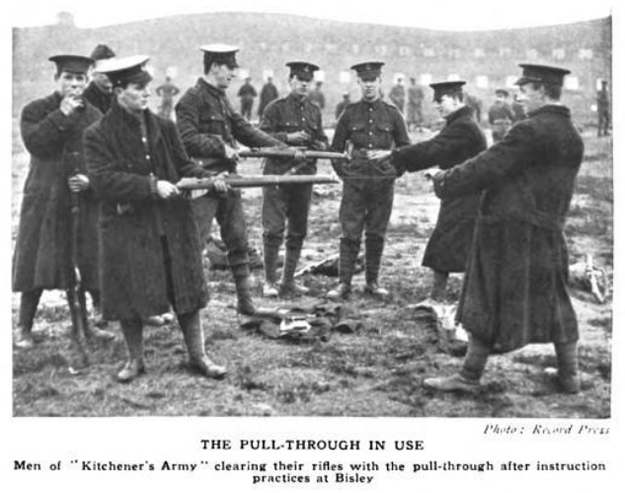 WW1 rifle cleaning, the pull through